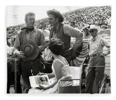 Clint Eastwood  Eric Fleming Characters Rowdy Yates Salinas California 1962 Fleece Blanket