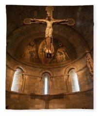 Cloisters Crucifixion Fleece Blanket