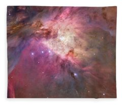 Close-up Of Galaxy With Iris And Tulips Fleece Blanket