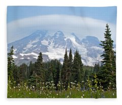 Cloud Capped Rainier Fleece Blanket