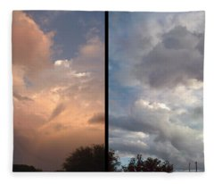 Cloud Diptych Fleece Blanket