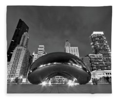Cloud Gate And Skyline Fleece Blanket