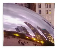 Cloud Gate City Fleece Blanket