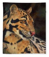 Clouded Leopard Fleece Blanket