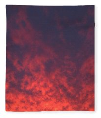 Clouds Ablaze Fleece Blanket