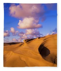Clouds And Dunes Are Shape-shifters Fleece Blanket