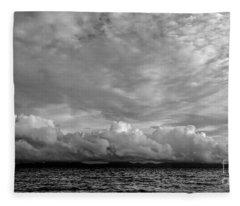 Clouds Over Alabat Island Fleece Blanket