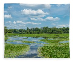 Clouds Over South Park Lake, South Fleece Blanket