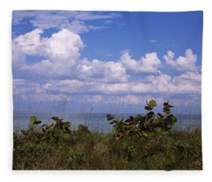 Clouds Over The Sea, Tampa Bay, Gulf Of Fleece Blanket