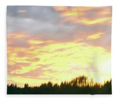 Clouds Over Trees At Dusk, Trinidad Fleece Blanket