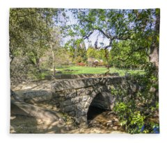 Clover Valley Park Bridge Fleece Blanket