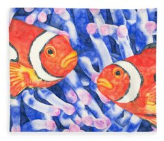 Clownfish Couple Fleece Blanket