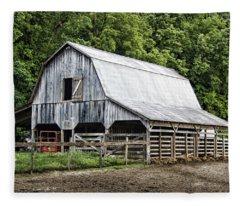 Clubhouse Road Barn Fleece Blanket