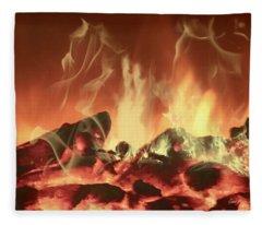 C'mon Baby Light My Fire Fleece Blanket
