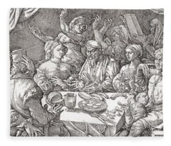 Coarse Behaviour At The Dining Table During The Renaissance Period.  After A Spanish Copper Fleece Blanket