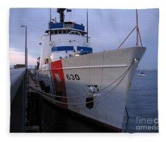 Coast Guard Cutter Alert Fleece Blanket