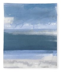 Coastal- Abstract Landscape Painting Fleece Blanket