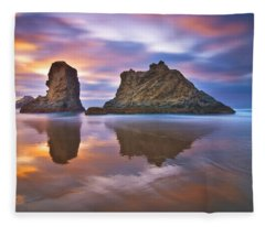 Coastal Cloud Dance Fleece Blanket