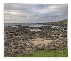 Coastal Stone Giant's Causeway -- Ireland Fleece Blanket