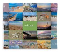 Coastal Winds Fleece Blanket