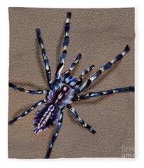 Cobalt Blue Tarantula Fleece Blanket