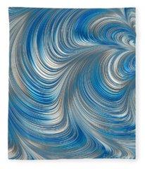 Cobolt Flow Fleece Blanket