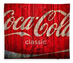 Coca Cola Barn Fleece Blanket