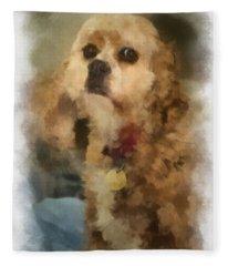 Cocker Spaniel Photo Art 10 Fleece Blanket