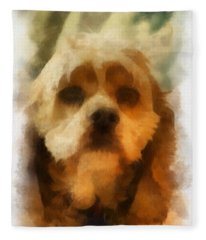 Cocker Spaniel Photo Art 11 Fleece Blanket