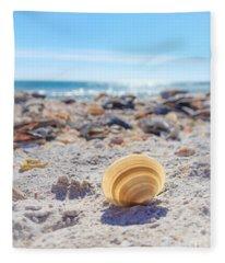 Cockle Shell Summer At Sanibel Fleece Blanket
