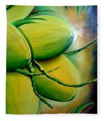 Coconut In Bloom Fleece Blanket