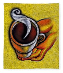 Coffee Cup  Fleece Blanket