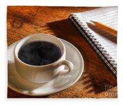 Coffee For The Writer Fleece Blanket