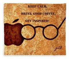 Coffee Lovers Quote 2 Fleece Blanket