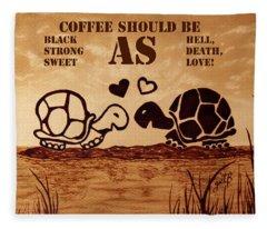 Coffee Lovers Reminder Fleece Blanket