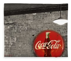 Coke Cola Sign Fleece Blanket