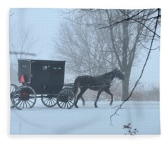 Cold Amish Morning Fleece Blanket
