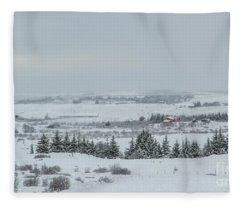 Cold Light Fleece Blanket
