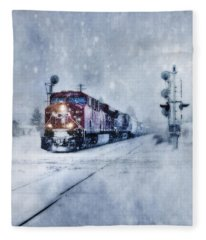 Cold Nights On The Midnight Train Color Fleece Blanket