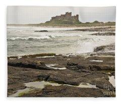 Cold Waves Of Northumberland Fleece Blanket