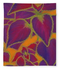 Coleus Gone Wild Fleece Blanket
