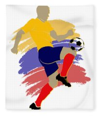 Colombia Soccer Player Fleece Blanket