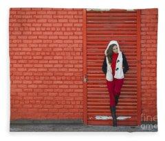 Color Me Red Fleece Blanket