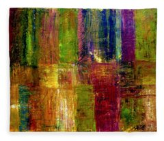 Color Panel Abstract Fleece Blanket