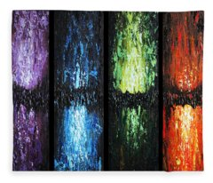 Color Panels 1 Fleece Blanket