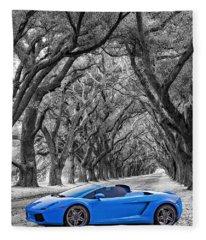 Color Your World - Lamborghini Gallardo Fleece Blanket