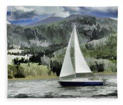 Colorado By Wind Fleece Blanket