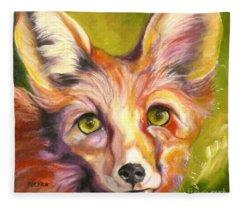 Colorado Fox Fleece Blanket