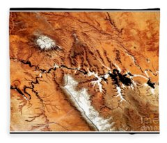Colorado Plateau Nasa Fleece Blanket