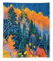 Colorado Trees At Fall Fleece Blanket